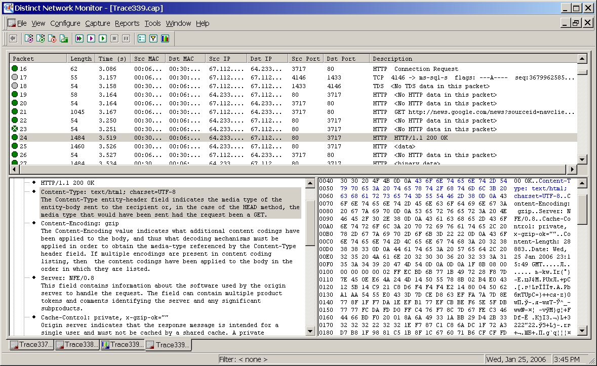 IP Packet Sniffing for Sniffing Network Traffic